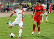 Vasyl Kobin in Dinamo Bucharest-Shaktar Donetk Stock Images