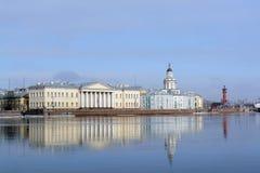 Vasylevski island panorama in winter Stock Image