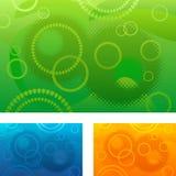 Vat achtergrond met cirkels samen Stock Foto
