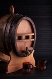 Vat alcoholische drank. Royalty-vrije Stock Foto