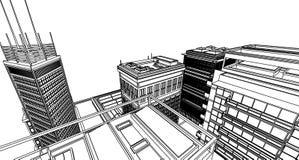 Vat architectuur samen Vector Illustratie