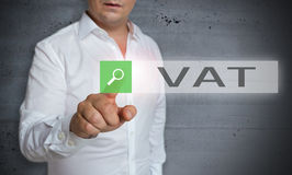 Vat browser is operated by man concept Royalty Free Stock Photo