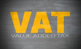 VAT on concrete wall background. VAT on concrete wall background Royalty Free Stock Photography