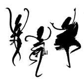Vat dansers samen - schilderend Stock Afbeelding