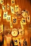 Vat de Achtergrond van de Tijd van Klokken samen Stock Foto