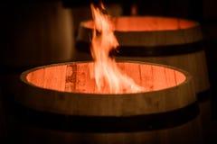 Vat die in Bordeaux Wineyard maken stock foto