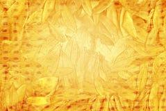 Vat eiken bladachtergrond samen Stock Afbeeldingen