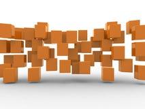 Vat geometrische vormen van kubussen samen Stock Foto