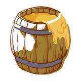 Vat gezonde honing, volledige gele pot royalty-vrije illustratie