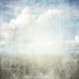 Vat grunge geweven achtergrond met wolken samen Royalty-vrije Stock Fotografie