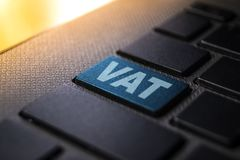 Vat keyword on keyboard royalty free stock photos
