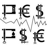 Vat in klem, financieel concept Stock Foto