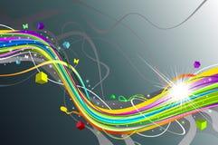 Vat kleurrijke achtergrond samen Stock Foto