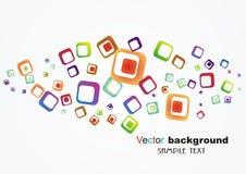 Vat kleurrijke achtergrond samen Stock Foto's