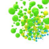 Vat kleurrijke gebieden over wit samen Stock Foto