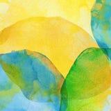 Vat kleurrijke waterverfachtergrond samen Stock Fotografie