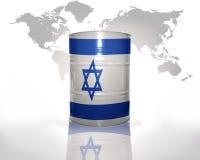 Vat met Israëlische vlag royalty-vrije illustratie