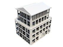 Vat model van de vijf verdiepingsbouw samen vector illustratie