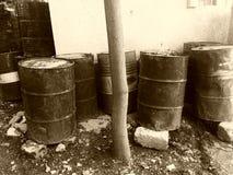 Vat olie Stock Foto's