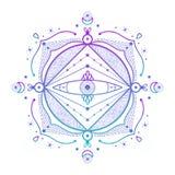 Vat ornament samen Vector illustratie Royalty-vrije Stock Afbeelding