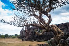Vat Phou или Wat Phu всемирное наследие ЮНЕСКО, Champasak, Лаос стоковое фото rf