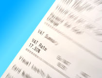 VAT receipt with blur Stock Photos
