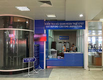 VAT refund customs inspection, Nha Trang Airport Royalty Free Stock Images
