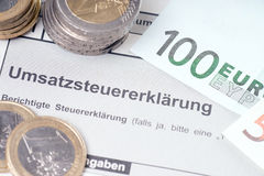 VAT return Stock Photography