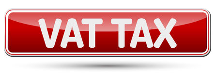 VAT TAX - Abstract beautiful button with text. Royalty Free Stock Images