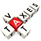 Vat taxes buzzword Stock Photography