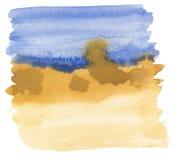 Vat waterverf het schilderen samen Royalty-vrije Stock Afbeelding