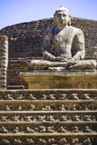 vatadage статуи sri lanka Будды Стоковое Изображение RF