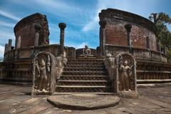 Vatadage antigo (stupa budista) Fotografia de Stock