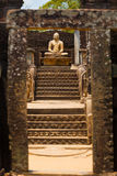 Vatadage Buddha Framed Gate Steps Polonnaruwa Stock Photography