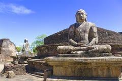 vatadage för statyer för buddha lankasri royaltyfri bild