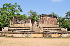 Vatadage in Polonnaruwa, Sri Lanka. Vatadage in ancient city of Polonnaruwa, Sri Lanka. A Vatadage is an ancient monument and it was built for the protection of Royalty Free Stock Image