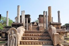 Vatadage in Polonnaruwa, Sri Lanka Royalty Free Stock Photo