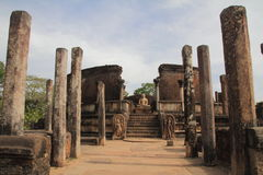 Vatadage in Sacred Quadrangle, Polonnaruwa Stock Photo