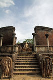 Vatadage in Sacred Quadrangle, Polonnaruwa Royalty Free Stock Images