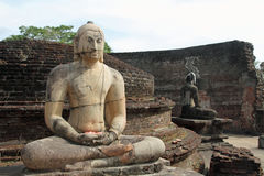Vatadage in Sacred Quadrangle, Polonnaruwa Stock Photos