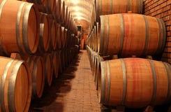 Vaten in de wijnmakerij Royalty-vrije Stock Fotografie