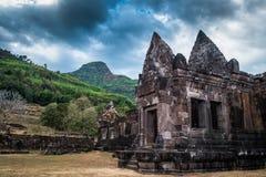 Vaten Phou eller Wat Phu är UNESCOvärldsarvet, Champasak, Laos arkivbild