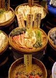 Vaten van traditionele Japanse groenten in het zuur Stock Fotografie