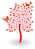 Vatentine tree with heart Stock Photography