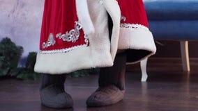Vater-Frost-Tänze Valenoks-Abschluss oben stock video footage