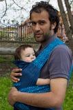 Vater mit dem Sohn im Freien Lizenzfreies Stockfoto