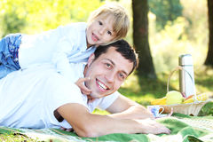 Vater mit Kind Stockfotografie