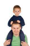 Vater mit Kind Stockfoto