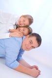 Vater mit Kindern Lizenzfreie Stockfotografie