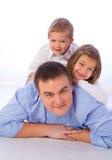 Vater mit Kindern Stockfotografie